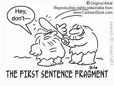 Image result for fragmented sentences