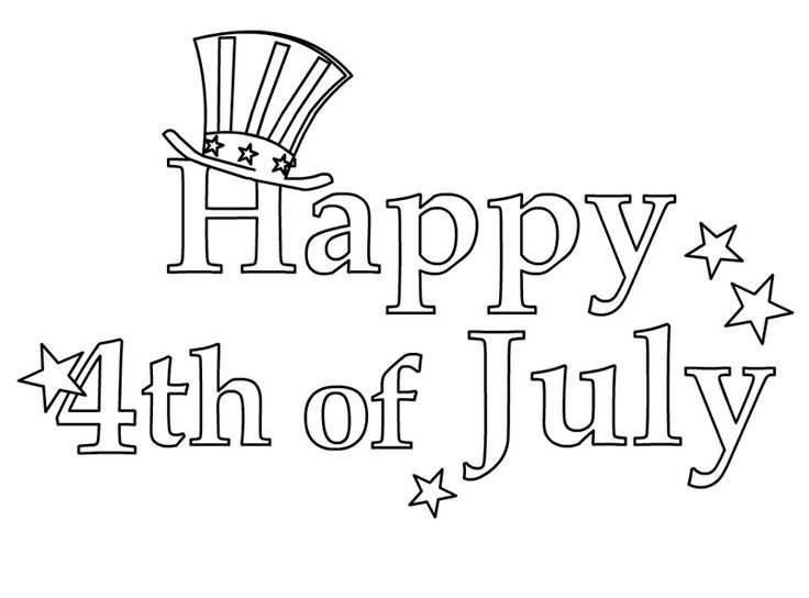 4th of July Coloring Pictures Happy 4th of July Images 2018