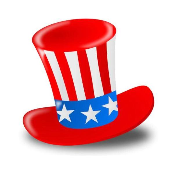 4th of July Hat Clipart