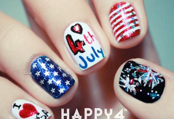 Happy 4th of July toe nail designs