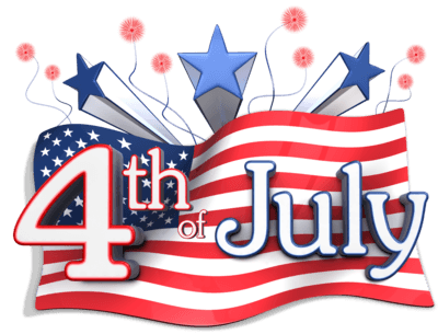 Clipart of 4th of July