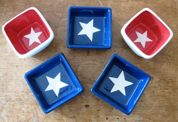 4th of July Decorations Pots