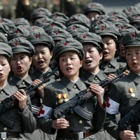 North Korea's Women ready for WAR