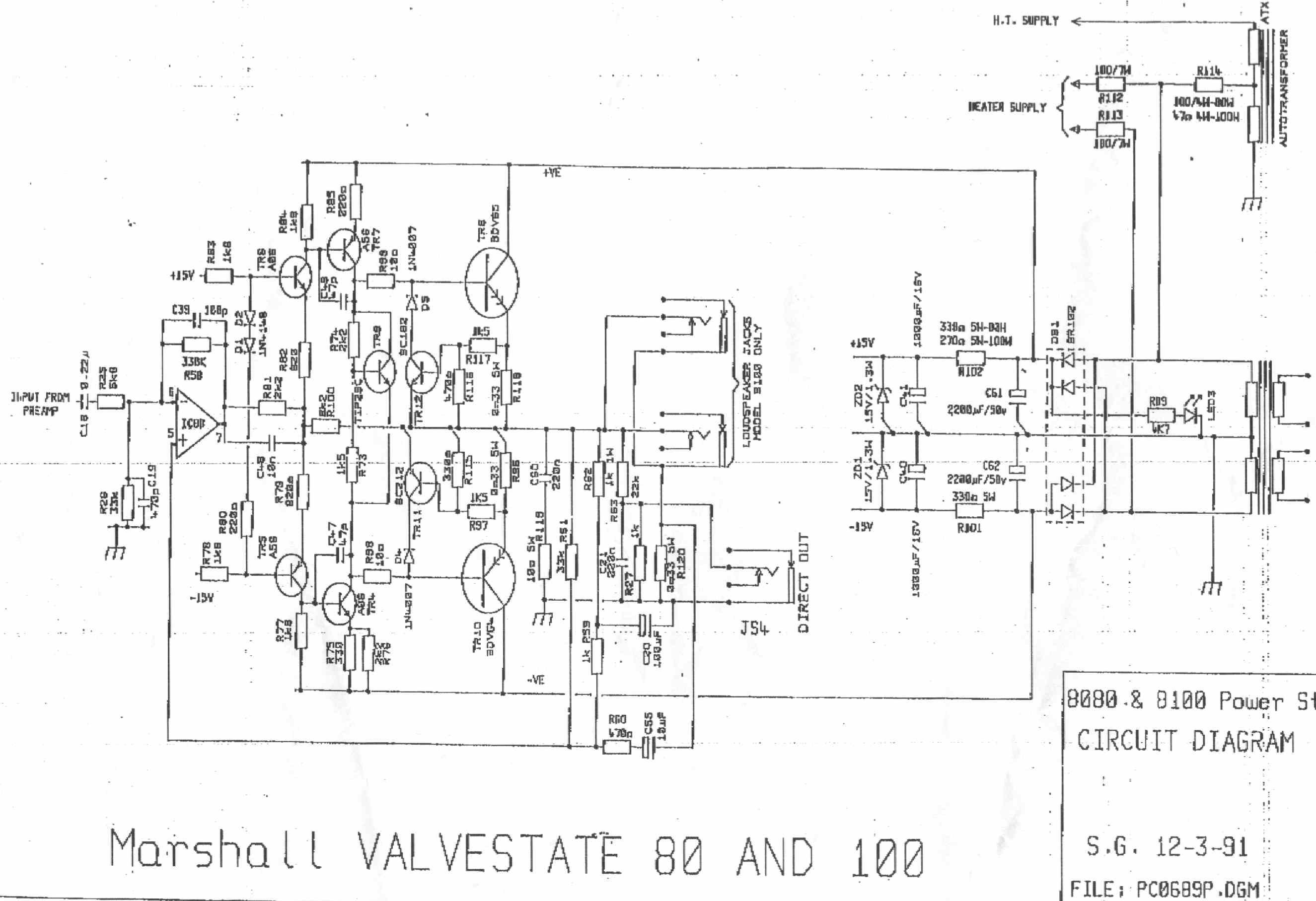 Index Of 2 Schematics Music Amps Marshall Valvestate