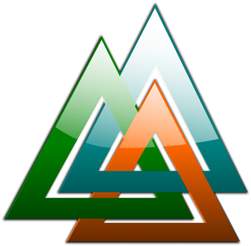 3 Triangles Linked Free Vector  4Vector