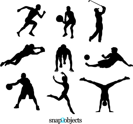 FREE SPORTS SILHOUETTES (97911) Free AI, EPS, SVG Download