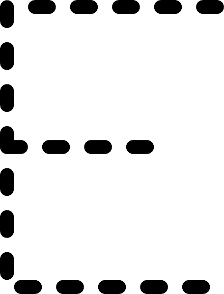 Alphabet Tracing Letter E clip art (104526) Free SVG