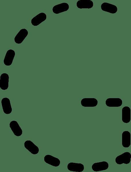 Alphabet Tracing Letter G clip art (104524) Free SVG