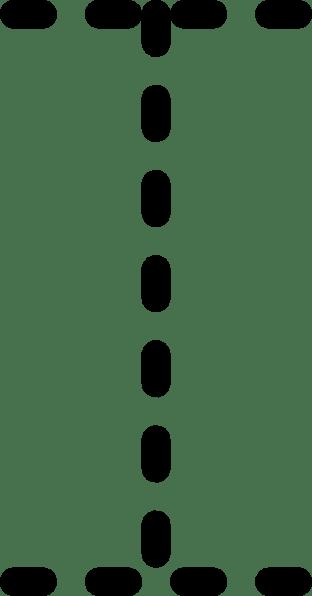 Alphabet Tracing Letter I clip art (104522) Free SVG