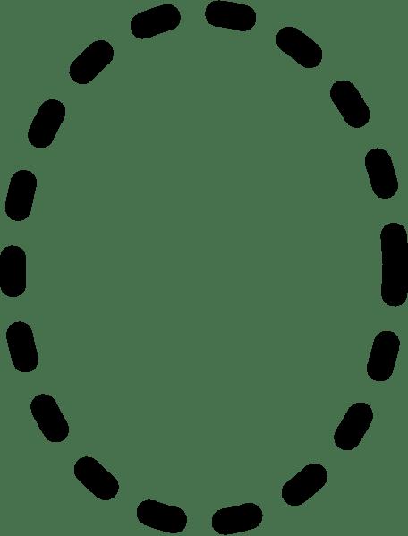 Alphabet Tracing Letter O clip art (104516) Free SVG