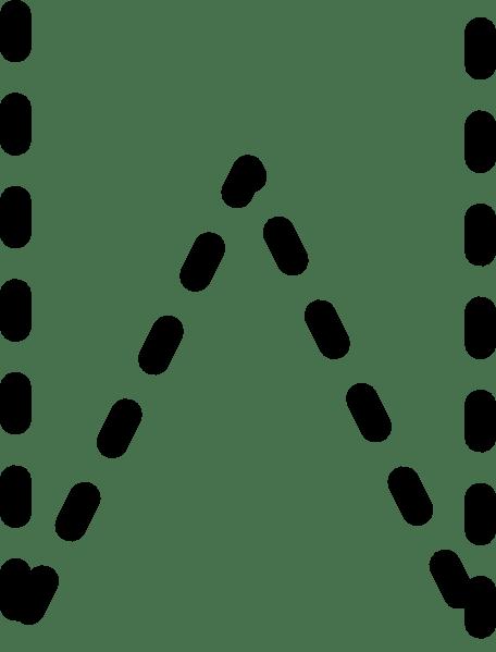 Alphabet Tracing Letter W clip art (104508) Free SVG