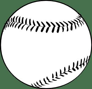 Baseball (b And W) clip art Free Vector / 4Vector