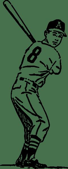 Baseball Player clip art (111271) Free SVG Download / 4 Vector