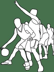 Basketball Game Outline clip art Free Vector / 4Vector