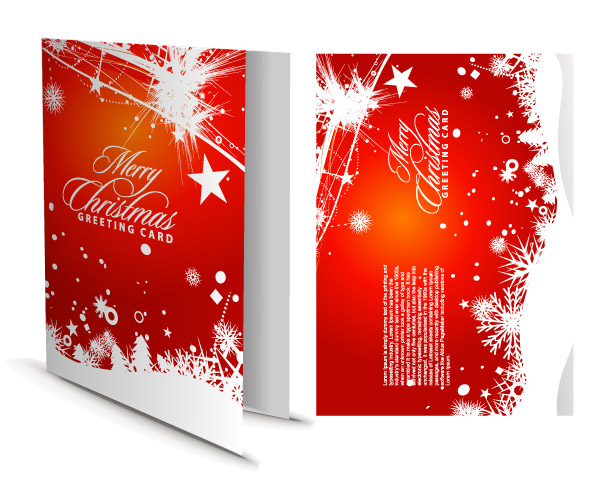 Beautiful Christmas Cards Vector Free Vector 4Vector