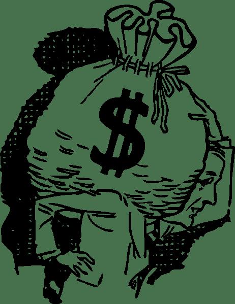 Big Bag Of Money clip art (108568) Free SVG Download / 4