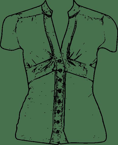 Blouse clip art Free Vector / 4Vector