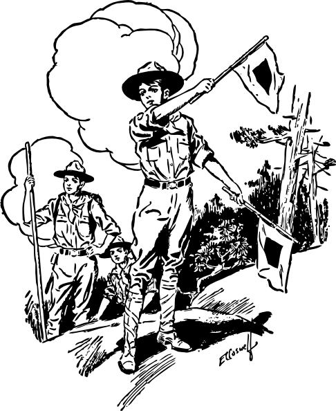 Boy Scouts clip art (111931) Free SVG Download / 4 Vector