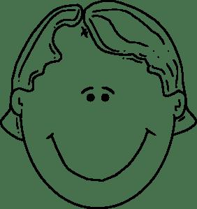 Boyface Outline clip art Free Vector / 4Vector