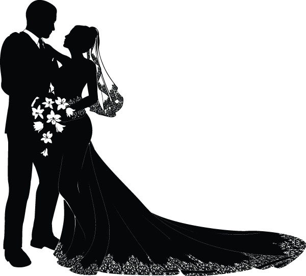 free-vector-bride-and-groom-vector_005509_Wedding design 03.jpg (600×542)