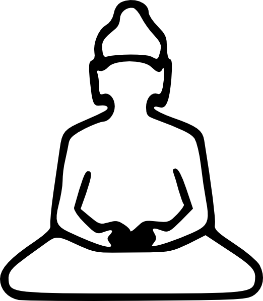Buddha Outline clip art (108035) Free SVG Download / 4 Vector