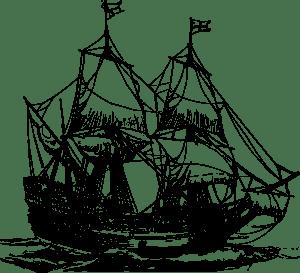 Carrack Ship clip art (108078) Free SVG Download / 4 Vector