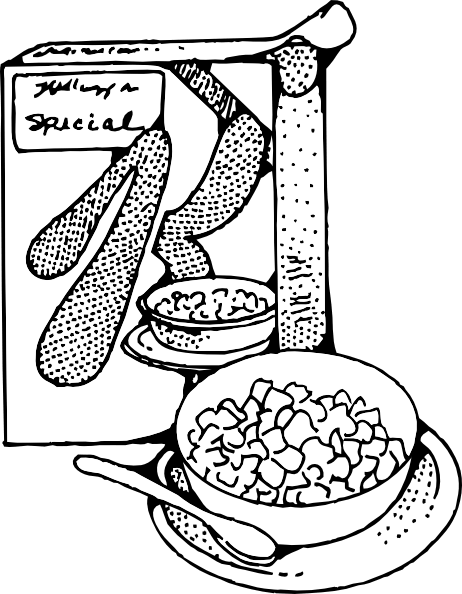 Cereal And Milk clip art (109132) Free SVG Download / 4 Vector