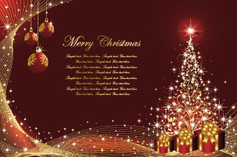 Christmas Card Background Vector Free Vector 4Vector