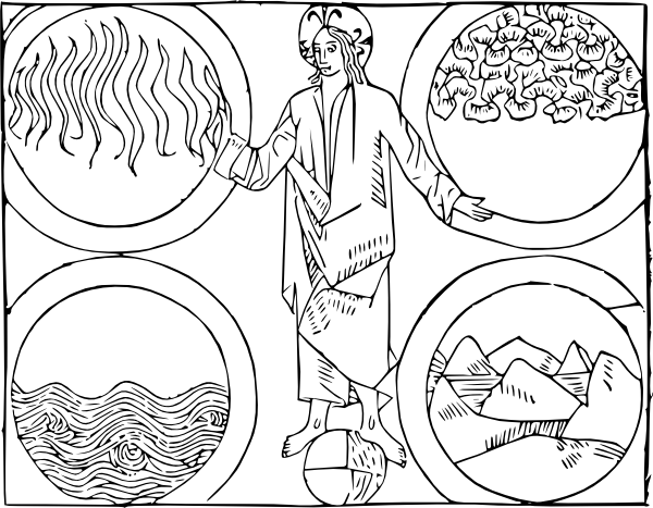 Cibo God And The Four Elements clip art (120214) Free SVG