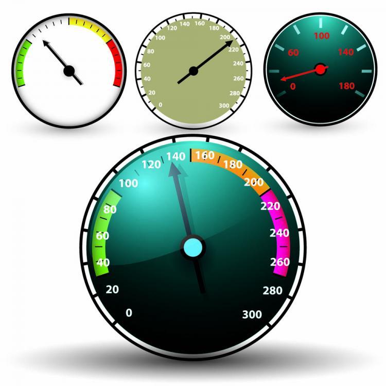 Clock speed u200bu200btable 05 vector Free Vector / 4Vector