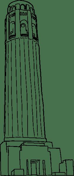 Coit Tower From Below clip art Free Vector / 4Vector