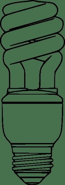 Compact Fluorescent Light Bulb clip art (115476) Free SVG