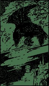 Crow Flying clip art Free Vector / 4Vector
