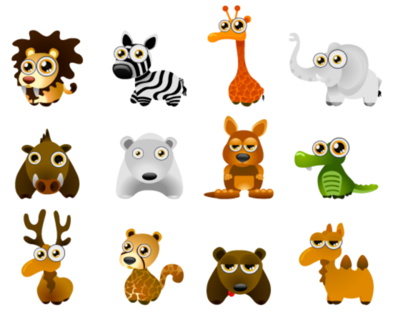 Cute Cartoon Animals 94293 Free Eps Download 4 Vector