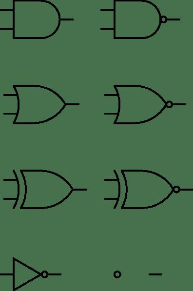 Digital Logic Gates clip art (117243) Free SVG Download