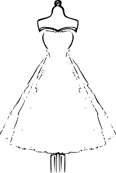 Dress clip art Free Vector / 4Vector