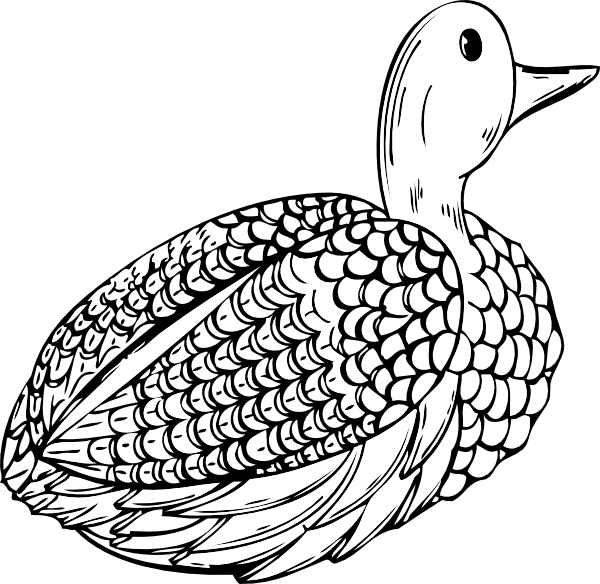 Duck Decoy clip art Free Vector / 4Vector