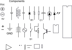 Electronic Components clip art Free Vector / 4Vector