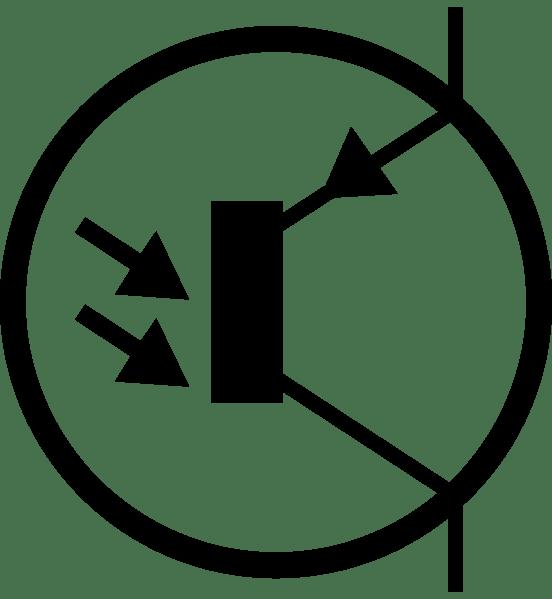 electronic phototransistor pnp circuit symbol clip art at clkercom