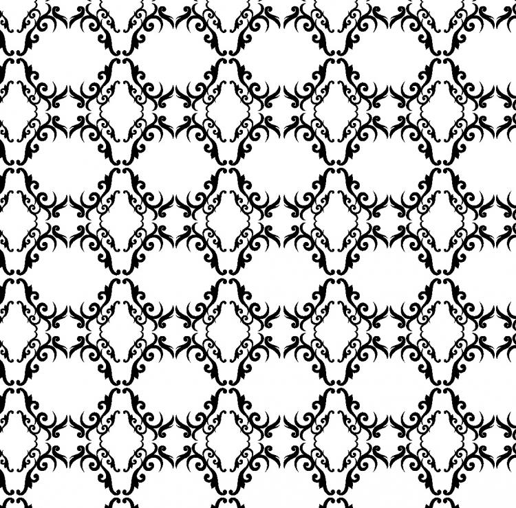 European background of black and white pattern vector Free