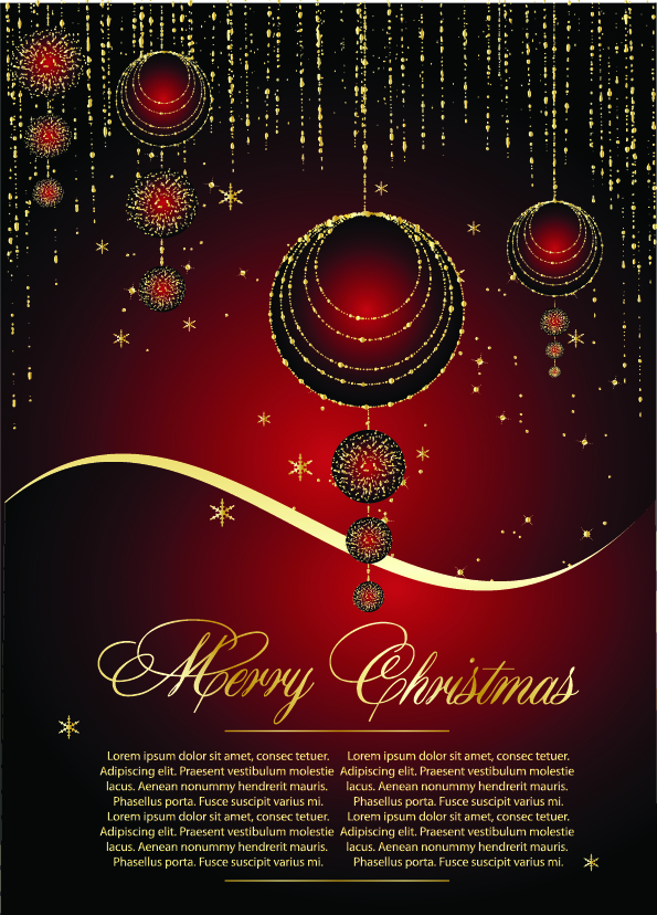 Exquisite christmas cards 25008 Free AI Download  4 Vector