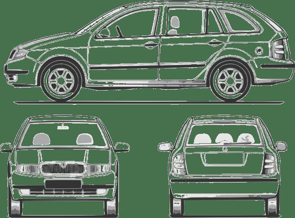Fabia Car clip art (109482) Free SVG Download / 4 Vector