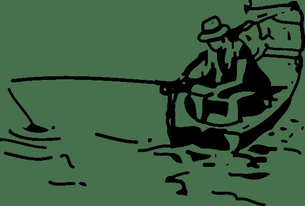Fishing Boat clip art (118972) Free SVG Download / 4 Vector