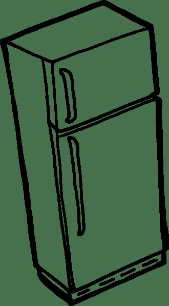 Fridge Outline clip art (116317) Free SVG Download / 4 Vector