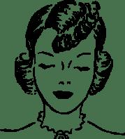 girls hair style clip art 108523