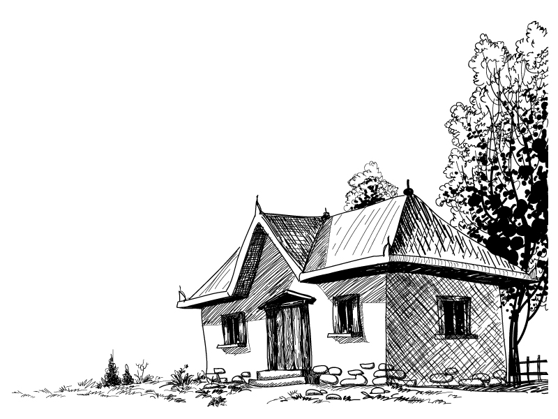 House sketch (4898) Free EPS Download / 4Vector