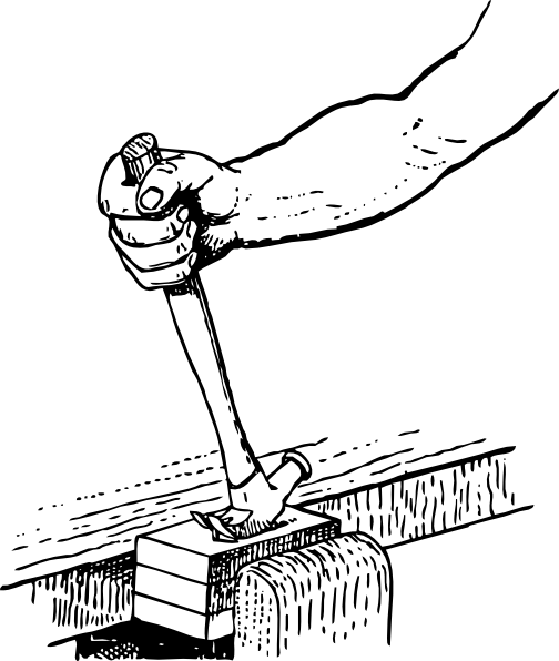 Johnny Automatic Withdrawing A Nail clip art Free Vector