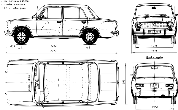 Lada Car clip art Free Vector / 4Vector