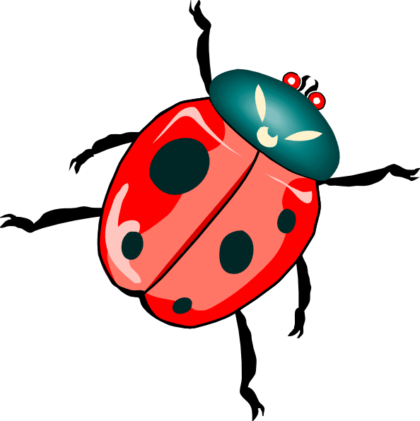 lady bug clip art free vector