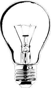 Lightbulb clip art (116332) Free SVG Download / 4 Vector